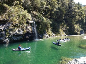 kayaking on the Pelorus river